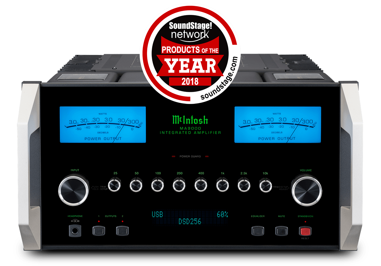 McIntosh MA9000 SoundStage! Network 2018 Integrated Amplifier Product of the Year