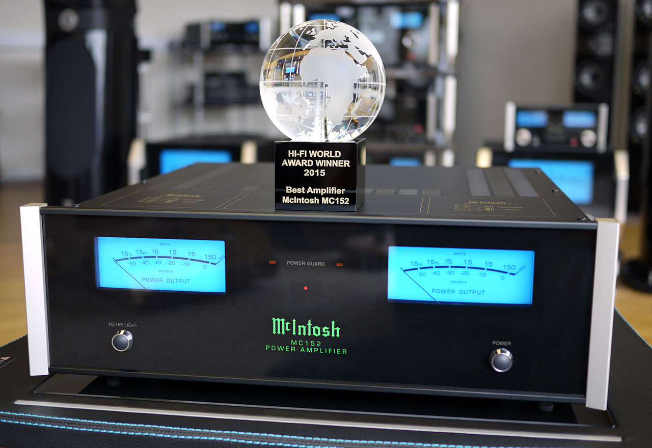 McIntosh MC152 Best Amplifier Hi-Fi World Award