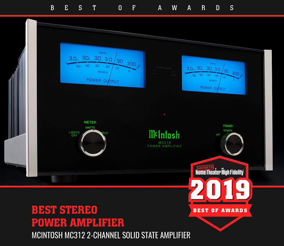 McIntosh MC312 Best Stereo Amplifier by Secrets of Home Theater and High Fidelity