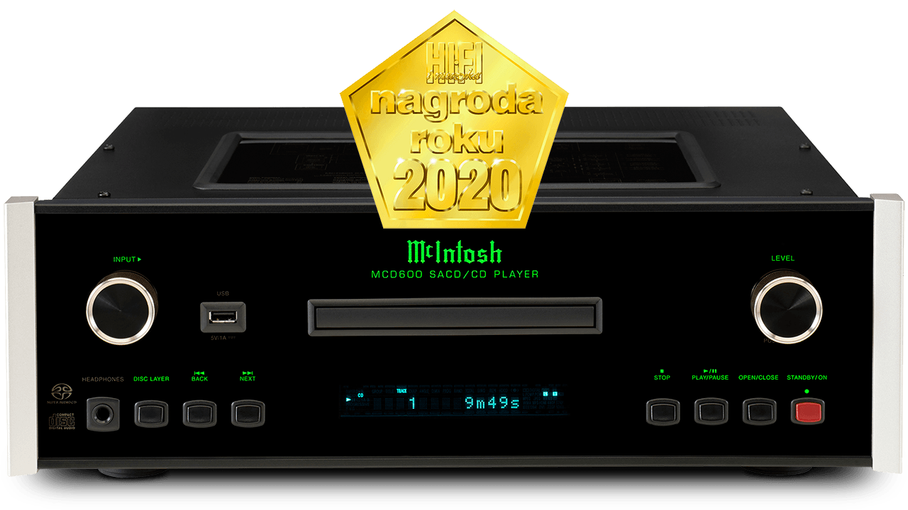 McIntosh MCD600 SACD/CD Player Hi-Fi Muzyka 2020 Product of the Year Award