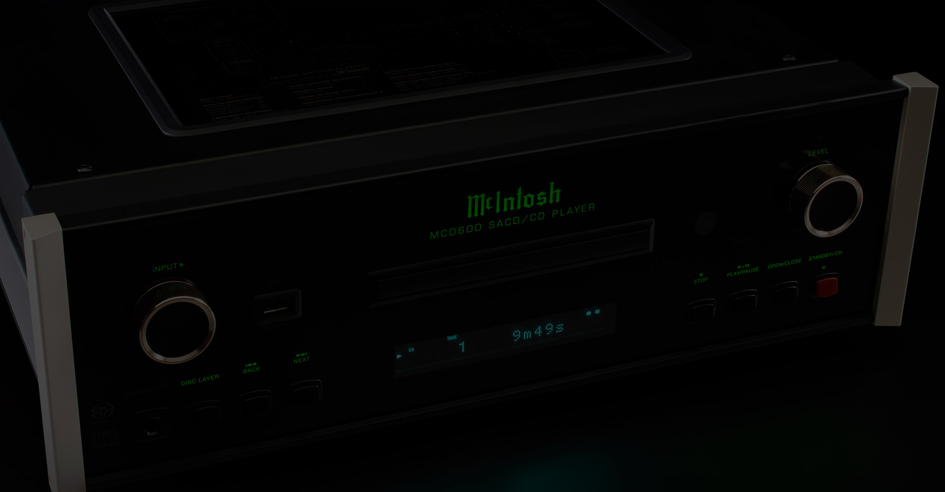 McIntosh SACD/CD Players & Transports for Home Audio Stereo