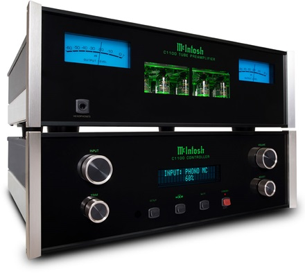 McIntosh Vacuum Tube and Solid State Stereo Preamplifiers