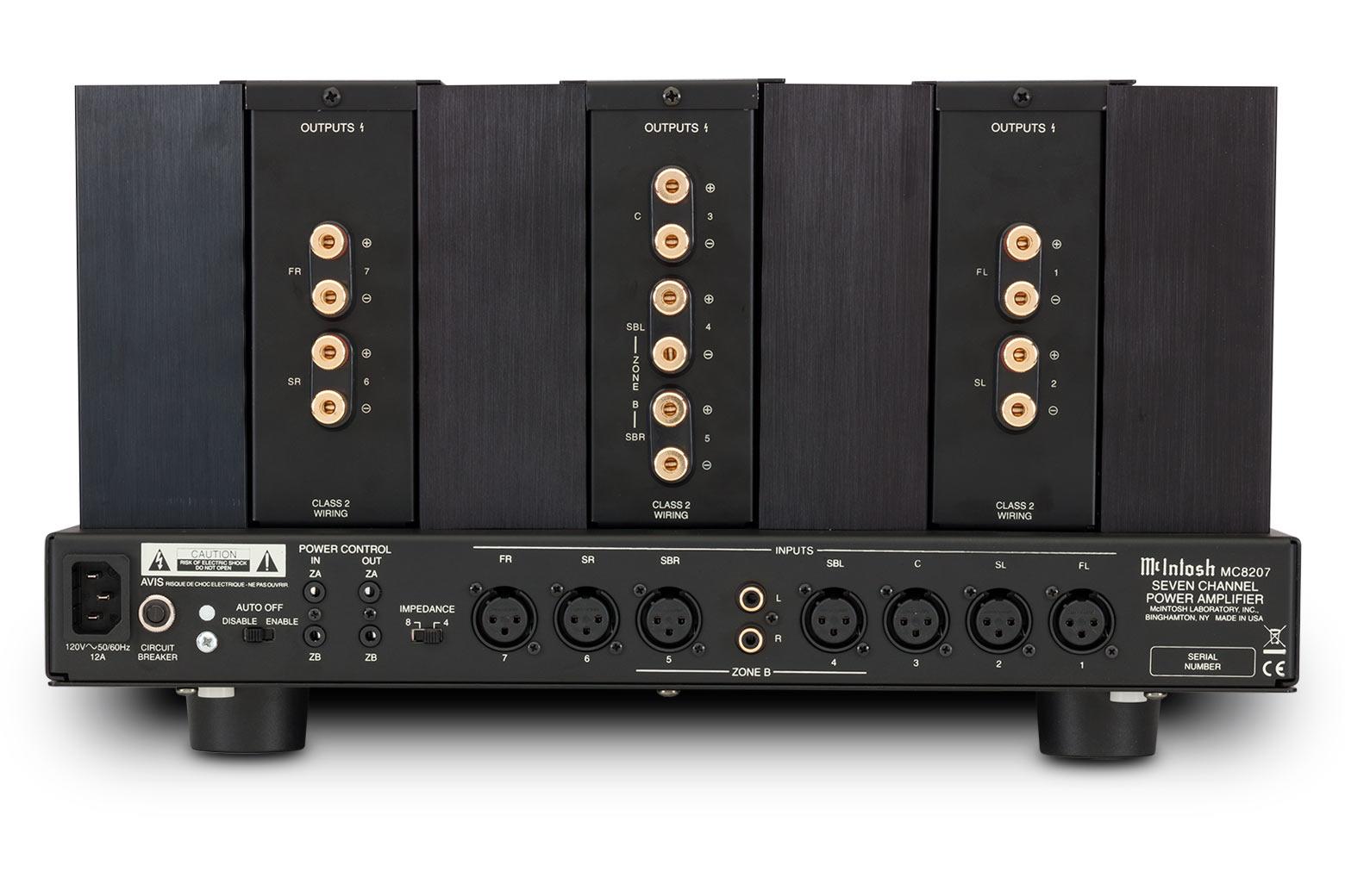 Mcintosh Mc8207 Home Theater Amplifier Directcoupled Pushpull Circuit Diagram Tradeoficcom