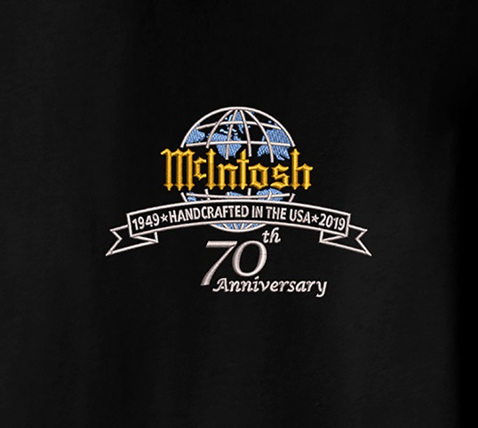 McIntosh T-shirt with 70th Anniversary logo