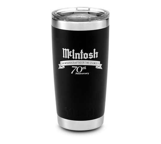 McIntosh 20 oz Yeti Tumbler with 70th Anniversary logo