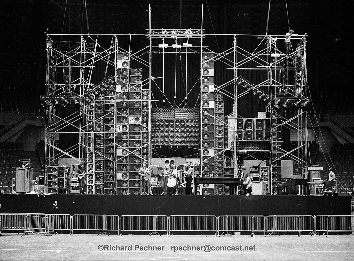 The Grateful Dead Wall of Sound that was powered by McIntosh amplifiers
