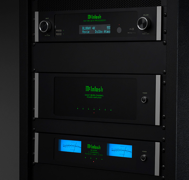 McIntosh MX100 A/V Processor, MI347 Amplifier, MI254 Amplifier